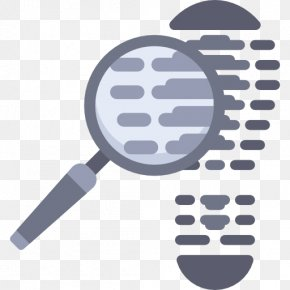 With A Magnifying Glass To Find Clues - Magnifying Glass Footprint Icon PNG