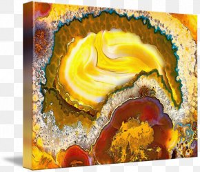 Gemstone - Gallery Wrap Canvas Mineral Art Agate PNG