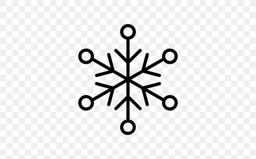Snowflake Icon Design, PNG, 512x512px, Snowflake, Black And White, Body Jewelry, Icon Design, Line Art Download Free