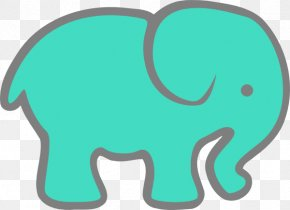 Elephant Clip Art - Indian Elephant Turquoise Elephantidae World Elephant Day Clip Art PNG