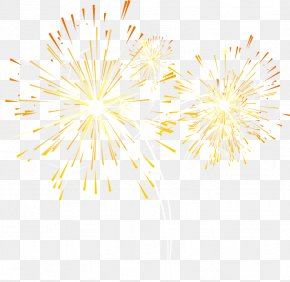 Fireworks, Fireworks, Creative Taobao - Yellow Petal Pattern PNG