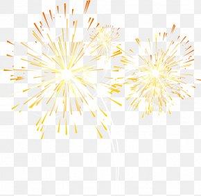 Fireworks, Fireworks, Creative Taobao - Yellow Petal Pattern PNG