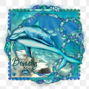 Under Sea - Dolphin Aqua Turquoise Cobalt Blue Teal PNG