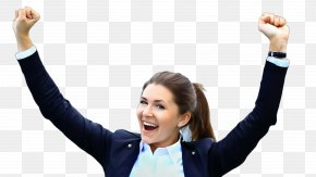 Smile Businessperson - Gesture Arm Cheering Sign Language Happy PNG