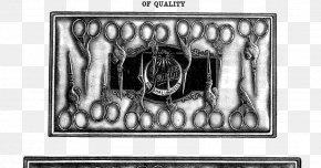 Vintage Scissors - Picture Frames Brand White Rectangle Font PNG