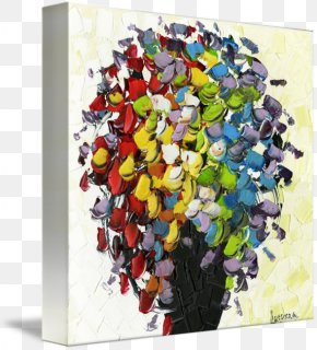 Painting - Gallery Wrap Canvas Modern Art Painting Flower Bouquet PNG