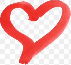 Watercolor Heart - Heart Desktop Wallpaper PNG