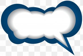 Speech Bubble Blue White Clip Art Image - Speech Balloon Clip Art PNG