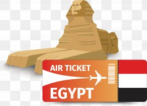 Egypt Vector - Great Sphinx Of Giza Airline Ticket Icon PNG