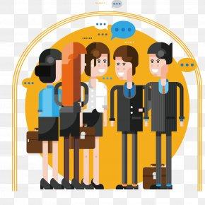 Work Colleagues Meet Scene Vector - White-collar Worker PNG