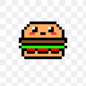 Pixel Art - Minecraft Hamburger French Fries Pixel Art Drawing PNG