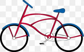 Red Bike - Fixed-gear Bicycle Cycling Mountain Bike PNG