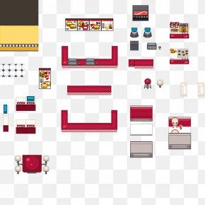 Fast-food Restaurant - Tile-based Video Game RPG Maker VX Fast Food Restaurant PNG