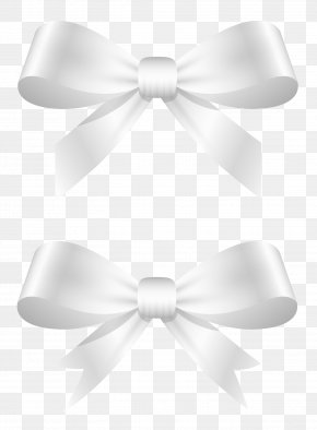 White Bows Clipart Picture - White Bow Tie Ribbon Shoelace Knot PNG