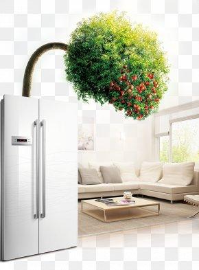 Creative Advertising Refrigerator - Living Room Refrigerator House PNG