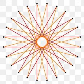 Creative Polygon - Pentadecagon Vector Field Function Gradient PNG