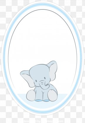 Vector Elephant In The Mirror - Elephant Euclidean Vector Clip Art PNG