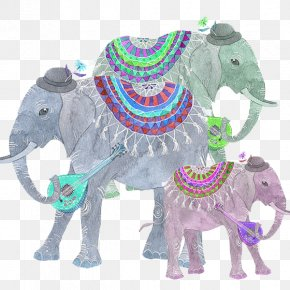 Hand Painted Thailand Elephant - Elephants In Thailand Elephants In Thailand Computer File PNG