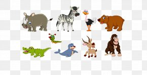 Crocodile - Animals In Autumn Cartoon Royalty-free Illustration PNG