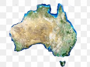 Satellite Map Of Australia - Australia Map Clip Art PNG