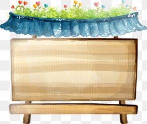 Fresh Green Wooden Chalkboard - Cartoon Poster Animation PNG