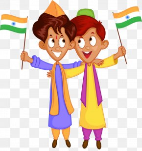 Indian Boy - Flag Of India Clip Art PNG