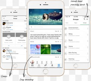 Mobile Social Network - Smartphone Mobile Social Network Social Networking Service PNG