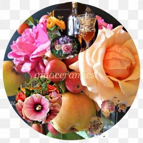 Rose Apple - Floral Design Marzipan Art Cut Flowers PNG
