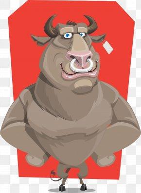 Bull - Character Cartoon PNG