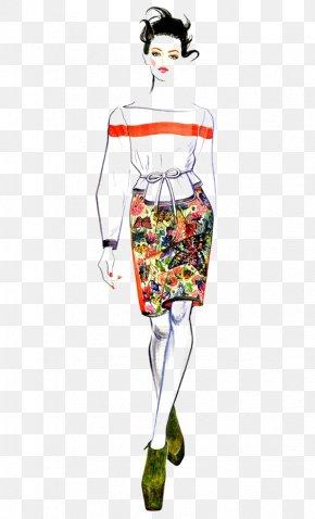 Catwalk Woman - Chanel Fashion Illustration Runway Illustration PNG