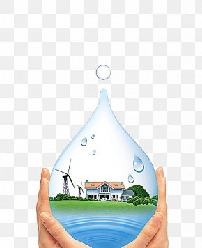 Conserve Water - Water Conservation Drop Advertising Energy Conservation PNG