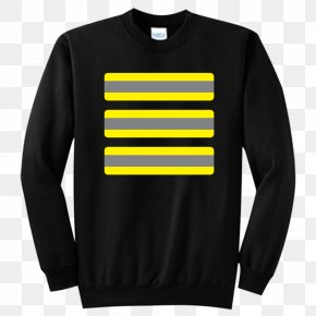 Black And Yellow Stripes - T-shirt Sleeve Hoodie Sweater Crew Neck PNG