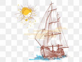 Hand-painted Sailing Download - Paper Wall Decal Sticker Polyvinyl Chloride PNG