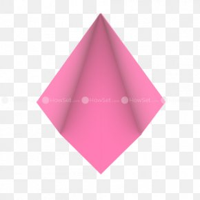 Flower Origami - Pink M RTV Pink Triangle PNG