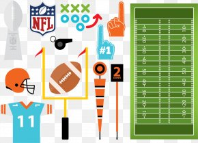American Football Design Elements Vector Material, - American Football NFL Euclidean Vector PNG
