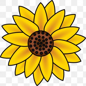 Country Flowers Cliparts - Common Sunflower Free Content Clip Art PNG