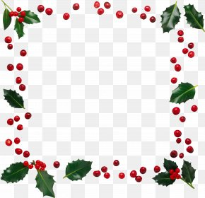 Garland Frame - Christmas Santa Claus Freemasonry Gift Clip Art PNG