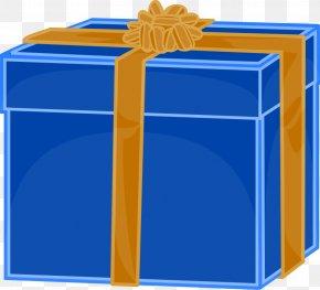Blue Ribbon Clipart - Gift Decorative Box Clip Art PNG