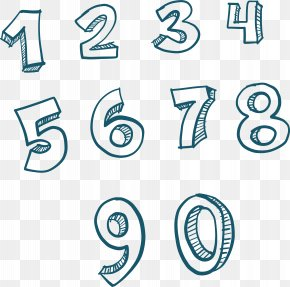 Hand-painted Numbers 1 To 9 - Number Euclidean Vector Numerical Digit Download PNG