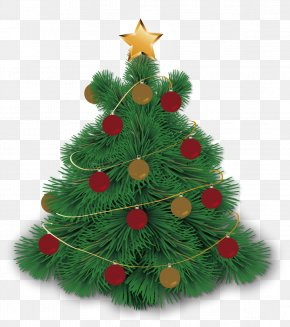 Vector Hand-painted Christmas Tree - Christmas Tree Euclidean Vector PNG