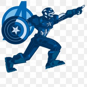 Blue Captain America - Captain America United States Illustration PNG