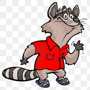 Happy Raccoon - Raccoon Cartoon Clip Art PNG