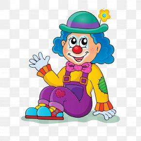 Sitting Cartoon Clown - Clown Illustration PNG