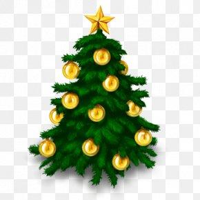 Christmas Tree Lighting - Christmas Tree Santa Claus Clip Art PNG