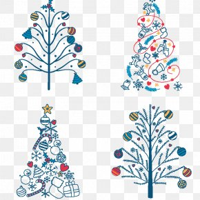 Christmas Tree - Christmas Tree Scrapbooking Clip Art PNG