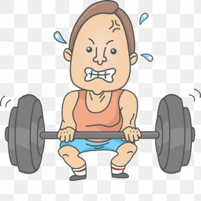 A Barbell Sweating Man - Royalty-free Stock Photography Clip Art PNG