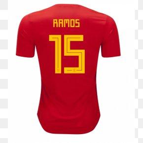 T-shirt - 2018 FIFA World Cup Spain National Football Team T-shirt Atlanta Falcons Jersey PNG