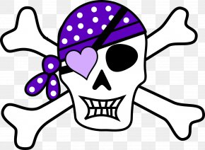 Pirate - Piracy Skull And Crossbones Jolly Roger Clip Art PNG