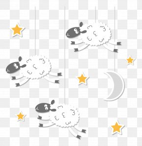 Sheep On The Sky Vector Clip Art - Sheep Vector Resources Clip Art PNG