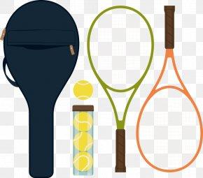 Vector Tennis Rackets And Tennis - Tennis Ball Racket Badminton Rakieta Tenisowa PNG